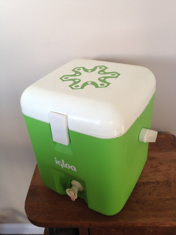 Vintage igloo cooler drink dispenser green 1 gallon - Igloo vintage ...
