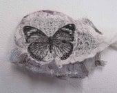 Vintage Butterfly Image Felt Brooch