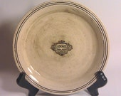 French Country Antique Chic Black and Natural Plate - Adore