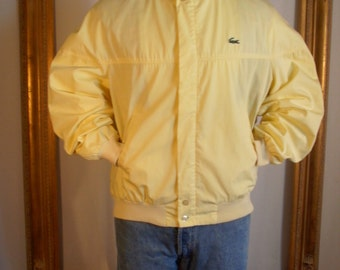 Vintage 1980's Alligator Yellow Golf Jacket - Size Large