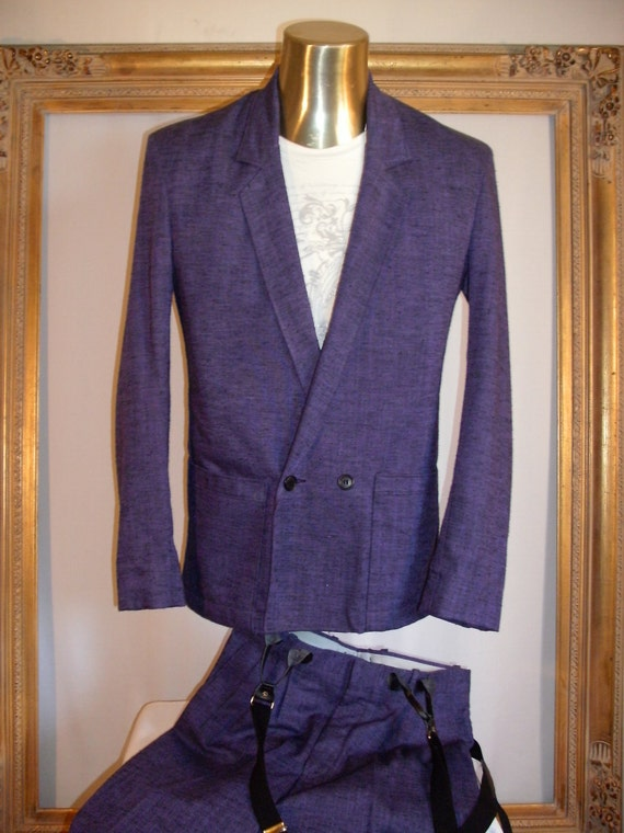 Vintage 1980's Cotler Purple Suit - Size 36