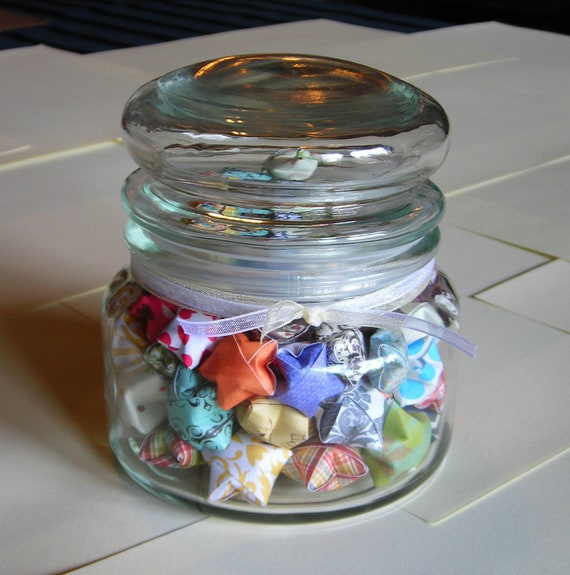 Wedding Bliss Stars - Round Top Glass Jar of Affirmation Stars