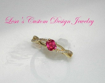 Ruby and Diamond 10kt gold Ring