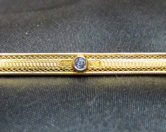 Victorian Bar Pin with Gold Vermeil over Sterling