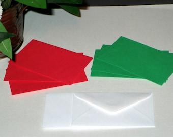 "60 Christmas Holiday Asst Florist ENCLOSURE CARD ENVELOPES - Small 2-1/2"" x 4-1/4"" (Free Shipping!)"