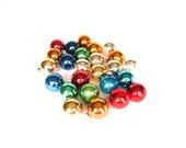 Vintage Christmas Medium Round Glass Ornaments - Glass Balls Multi Colors for Christmas Tree