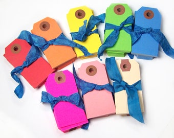 50 gift tags favor tags colorful tags mini size tags pick your color