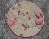 Shabby Chic Ornament, Floral Fabric, Cottage Charm
