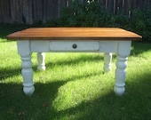 """The """"Petite"""" Plantation Coffee Table - Handmade with Reclaimed Wood by Arcadian Cottage"""