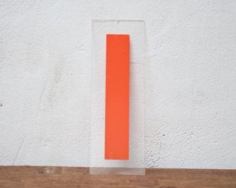 Vintage Letter I - Marquee Plastic Letter I Sign Orange Letter I Vintage Marquee Letter Kiosk