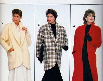 Butterick 4039 Misses' Coat Pattern, UNCUT, Family Circle, Size Petite, Small, Medium