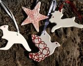 Plain Kangaroo Christmas Decoration