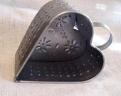 Tin Punched Heart Vintage Country Farmhouse Rustic Home Decor