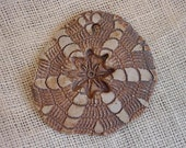 Rustic Clay Medallion Pendant Circular Textured Natural Tribal Vintage Handmade Mandala Craft Supply itsyourcountry