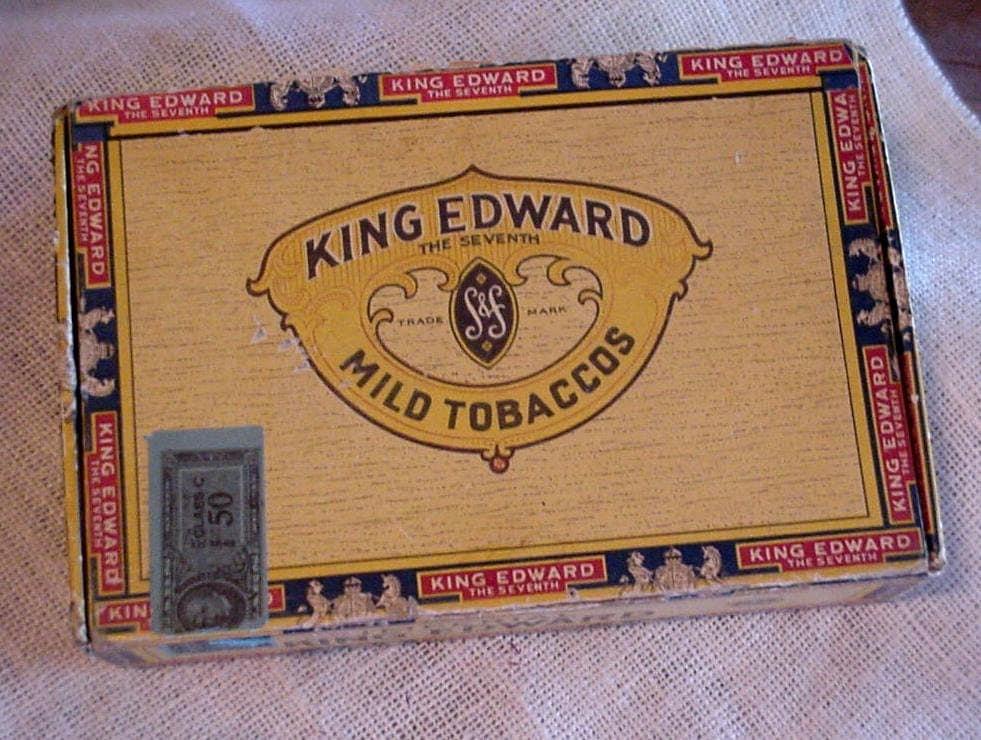 Vintage Cigar Box Imperial King Edward The Seventh Cigar Box