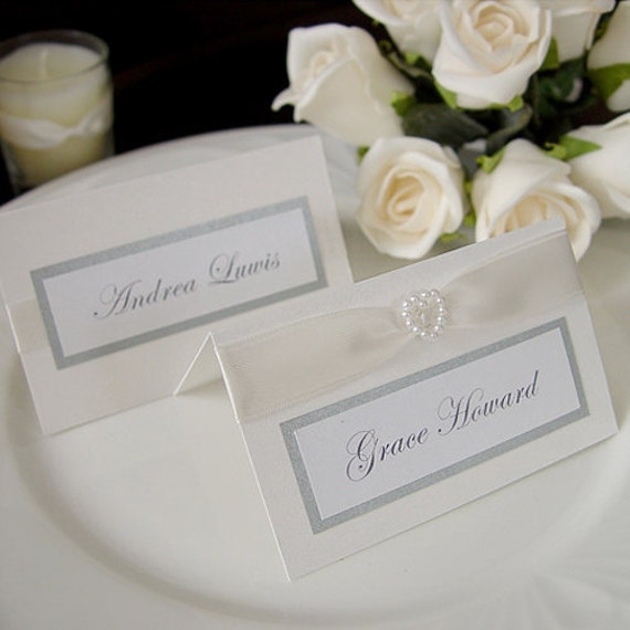 items similar to modern wedding reception name pleace card On name tags for weddings