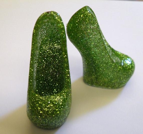 Monster High Emerald Green Glitter Shoes Style 01