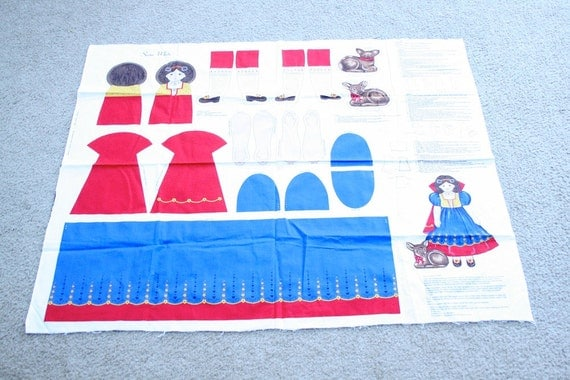 Sweet Snow White Fabric Pattern Panel from Cranston