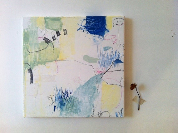 Original abstract mixed media painting on canvas