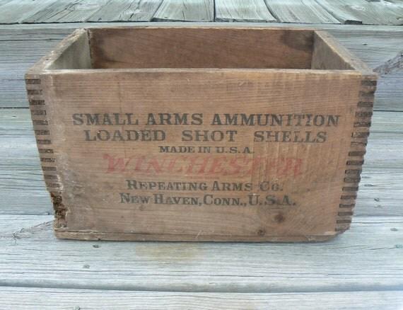 Winchester Ammunition Crate Vintage Primitive Barn Find
