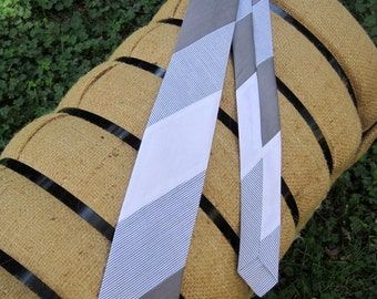 Shades of Gray Boys Necktie---Upcycled from mens dress shirts