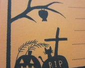 Halloween paper / RIP / Orange paper