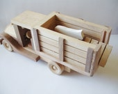 Natural Wood Toys Childrens Wooden Farm Truck WoodWorking, Pretend Play, Waldorf