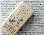 Mail Art Series Rubber Stamp Shinjuku Postmark