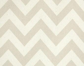 "Pair of Khaki and Natural Chevron Zig Zag Curtains Drapery Panels 50"" x 63 72 84 90 96 108 120"