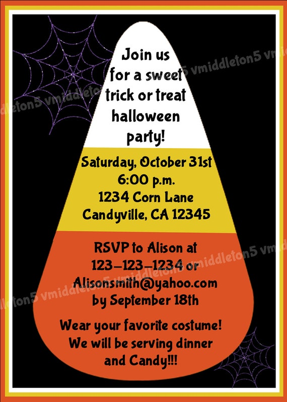 Halloween Potluck Invitation Wording as luxury invitation sample