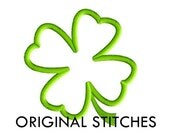 St Patrick's Day Four Leaf Clover Applique and Machine Embroidery Digital Design File 4x4 5x7 6x10 7x11 8x12