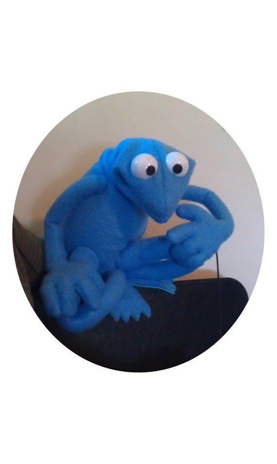 Custom Made Large Frog Puppet - Professional Use