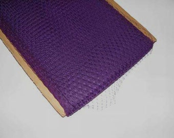 1 metre of  Millinery Veiling in Purple , 21cm wide