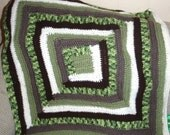 Log Cabin Pattern Crochet Baby Blanket