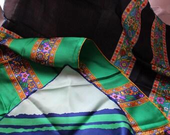 Vintage Glentex Silk Scarves Hand Rolled Hem Japan