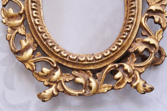 Antique Victorian Picture Frame Brass