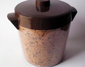 1978 Mid Century Modern Thermo-Serv Faux Cork Ice Bucket