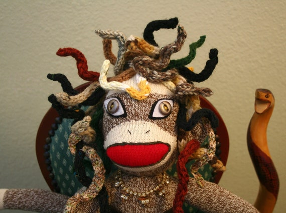 Reserved for MOAL - Medusa Sock Monkey