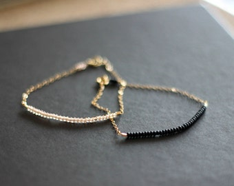 lucky gold bracelets - set of 2 - choose your colors