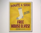 SPEW Free House Elves Propaganda Poster / WWII Poster Design
