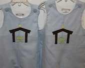 Brother/Sister Christmas Nativity Dress/Longall for Holidays--matching long sleeve shirt available