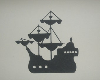 Captain Hook Pirate Ship, pirates, Peter Pan, for framing, birthday invitations, banners, favor bags