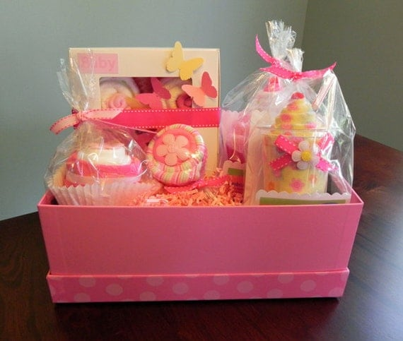 BabyBinkz Gift Basket Unique Baby Shower Gift or Centerpiece