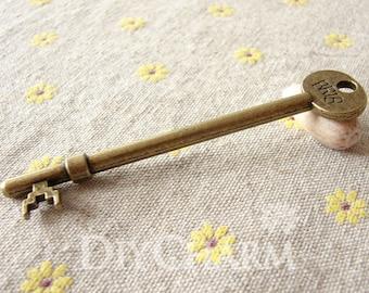 Antique Bronze Huge Key Pendants 93x19mm - 2Pcs - DC25764