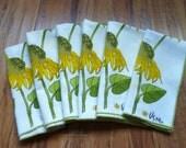 6 Vera napkins sunflowers mid century modern eames