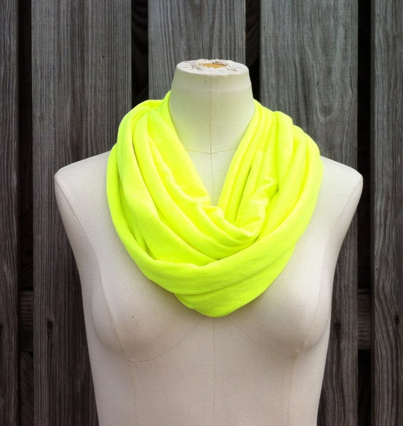 Infinity Scarf The GRANDE All Season Loop Scarf NEON Yellow