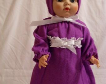 "19-20"" Purple Bunting and Hood Set"