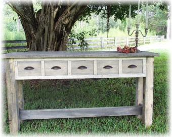 Barnwood Console Buffet Table FREE SHIPPING
