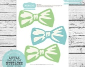 INSTANT DOWNLOAD Little Man Mustache Bow Tie Banner or Photo Props