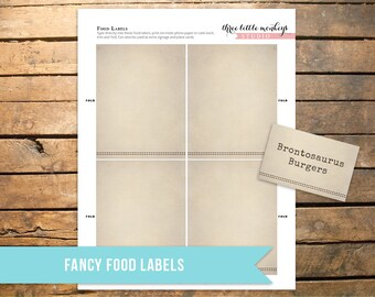 Fossil Hunter Fancy Tent Cards Food Labels